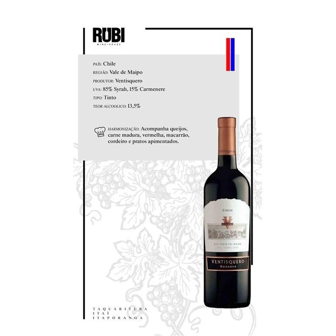 Vinho Tinto Ventisquero Reserva Alma de Los Andes Syrah750ml
