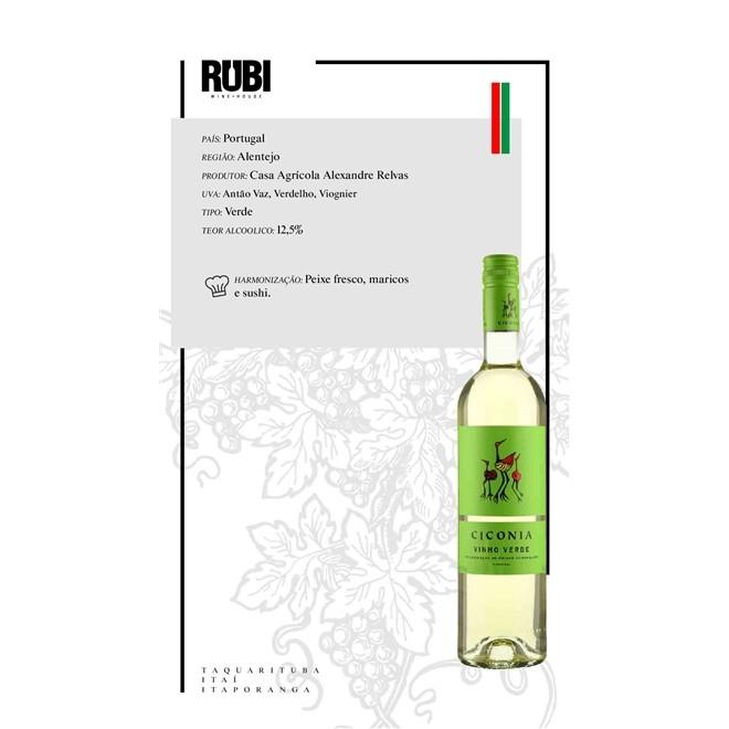 Vinho Verde Português Ciconia 750ml