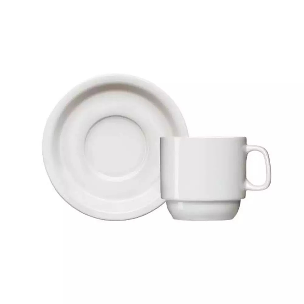 Xícara + Pires de Café Iguaçu Porcelana Germer 65ml 5x5,5cm