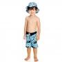 Bermuda Bebê Oceano c/ Proteção UV 50+ Azul Everly