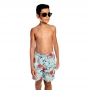 Bermuda Infantil Polvo c/ Proteção UV 50+ Azul Everly