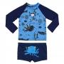 Conjunto Bebê Oceano c/ Proteção UV 50+ Azul Everly