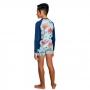 Conjunto Infantil Polvo Camiseta + Sunga c/ Proteção UV 50+ Azul Everly