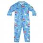Macacão Pijama Bebê Moletinho Dino Azul Everly