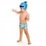 Sunga Boxer Bebê Dinossauro c/ Proteção UV 50+ Azul Everly