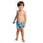 Sunga Boxer Bebê Tartaruga Azul c/Proteção UV 50+ Everly
