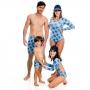 Sunga Boxer Infantil Tartaruga Azul c/Proteção UV 50+ Everly