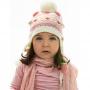 Touca Acrílica Bebê c/ Morangos Bege Everly