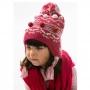 Touca Acrílica Bebê c/ Pompons Pink Everly