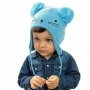 Touca Acrílica Bebê Gatinho Azul Everly