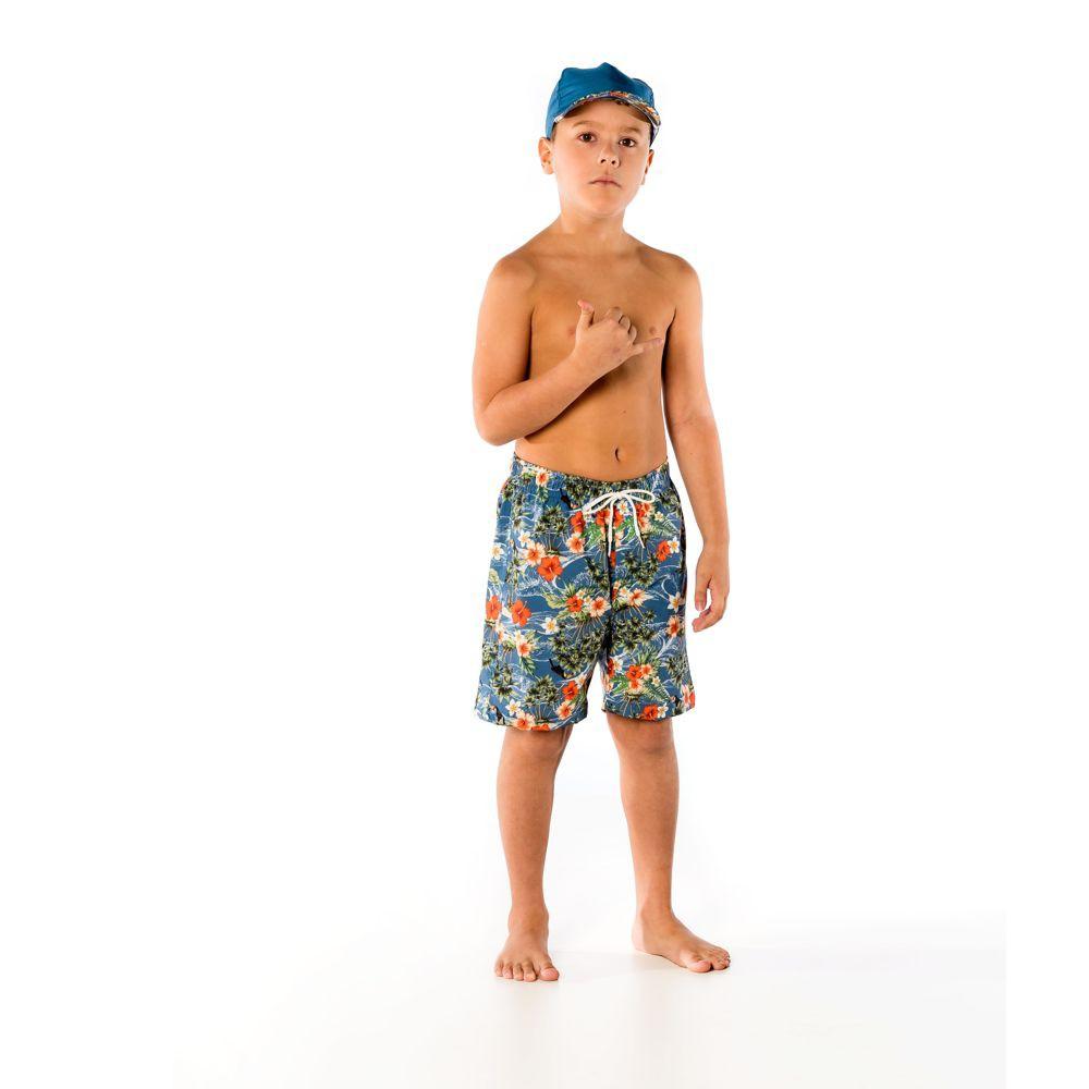 Bermuda Infantil Tropical UV 50+ Everly