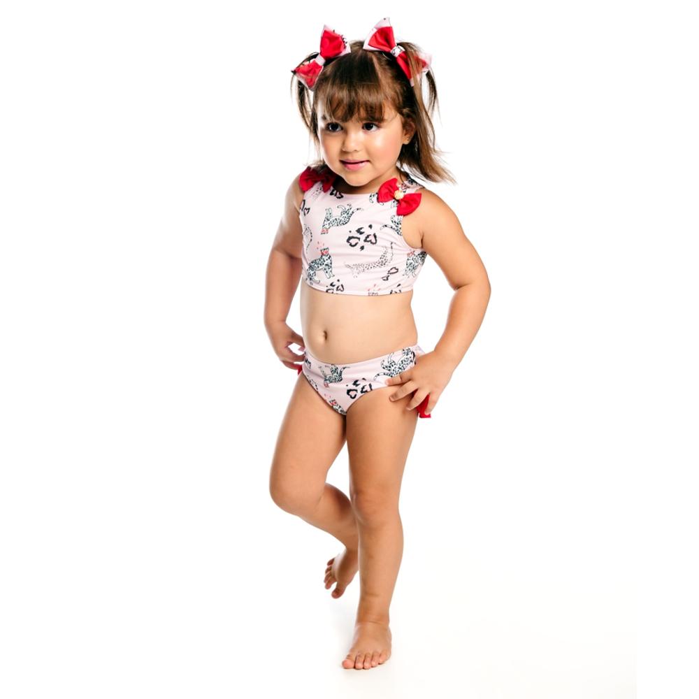 Biquíni Bebê Oncinha c/ Proteção UV 50+ Rosê Everly