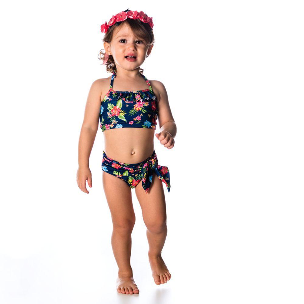 Biquíni Bebê Tropical UV 50+ Everly