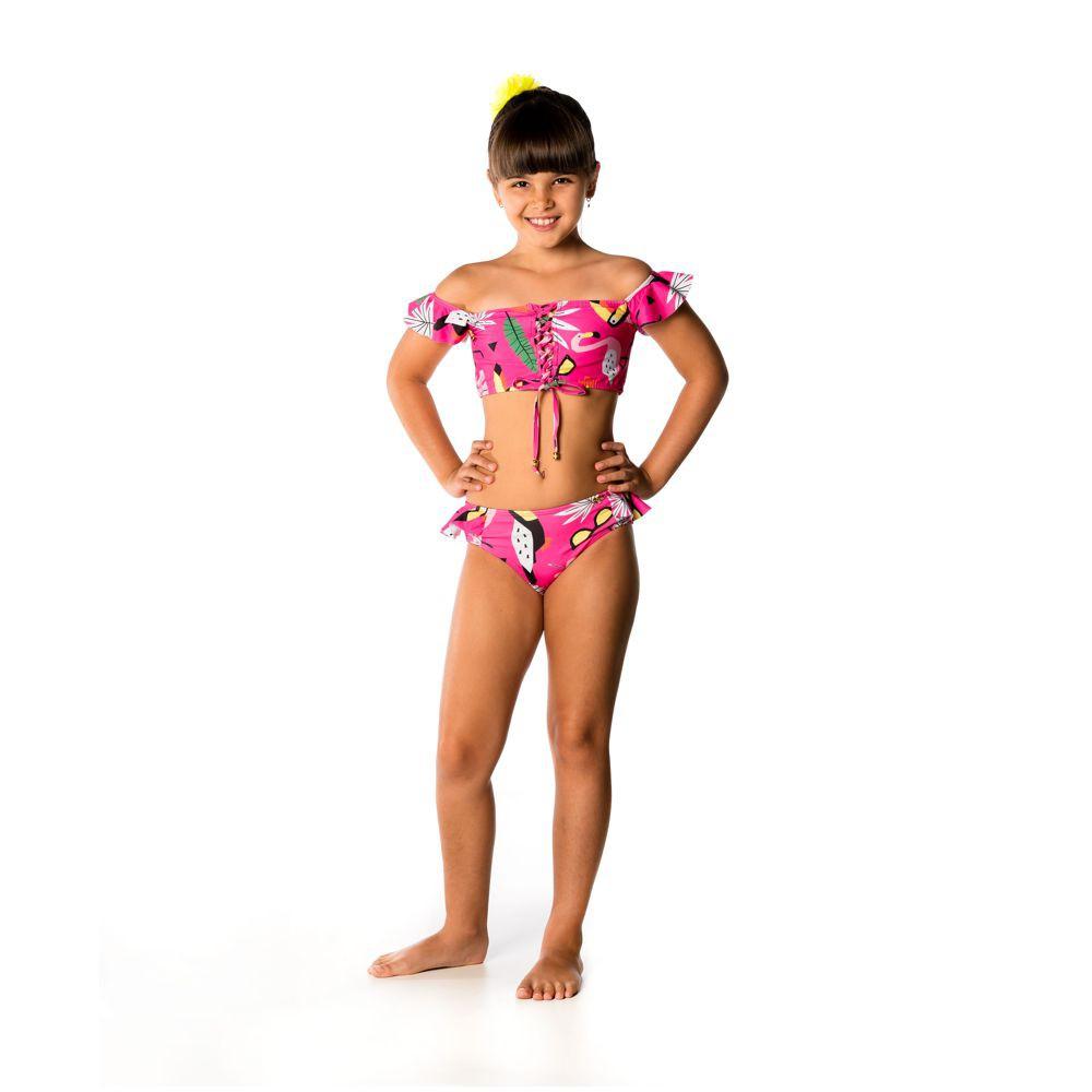 Biquíni Infantil Ciganinha Tucano UV 50+ Everly