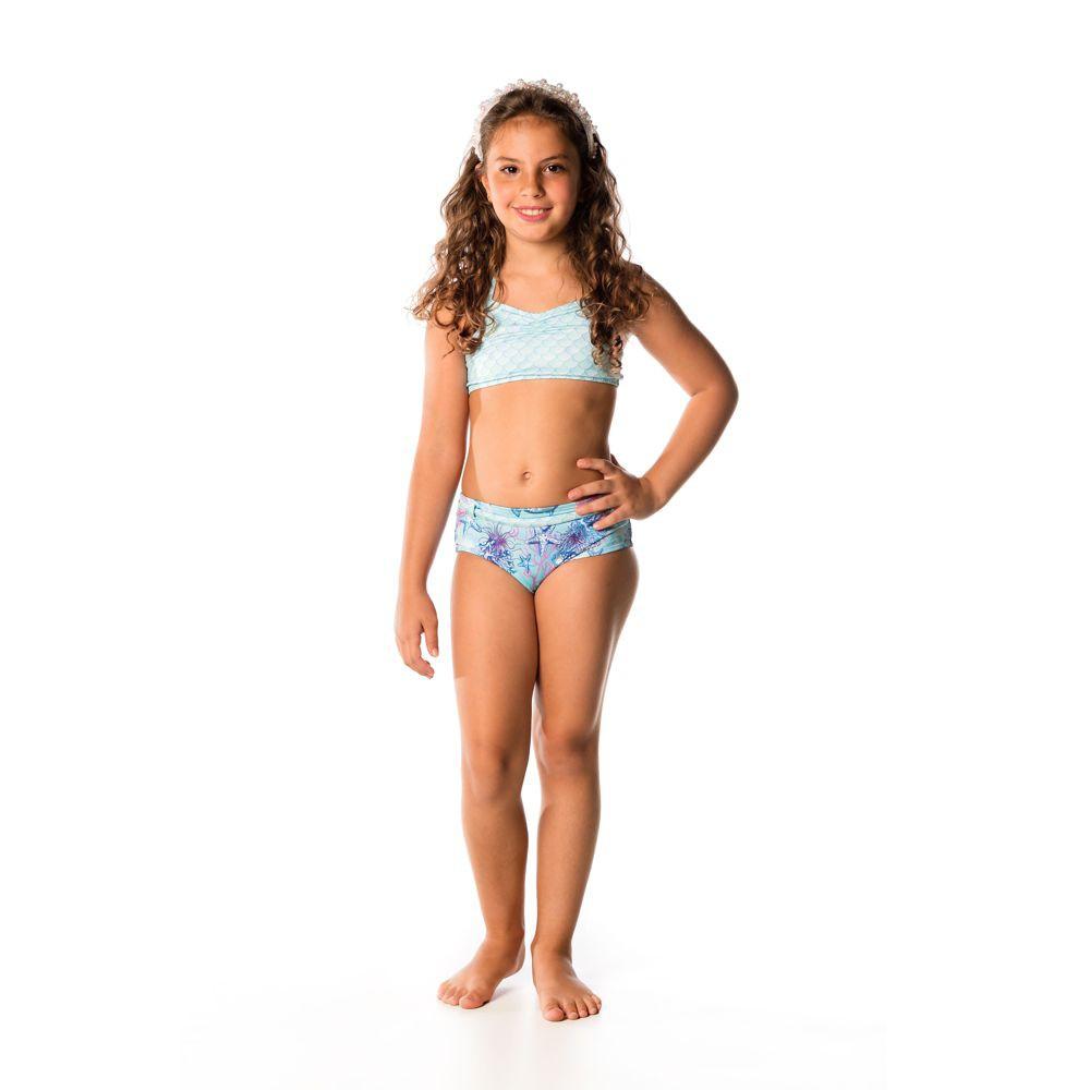 Biquíni Infantil Corais UV 50+ Everly