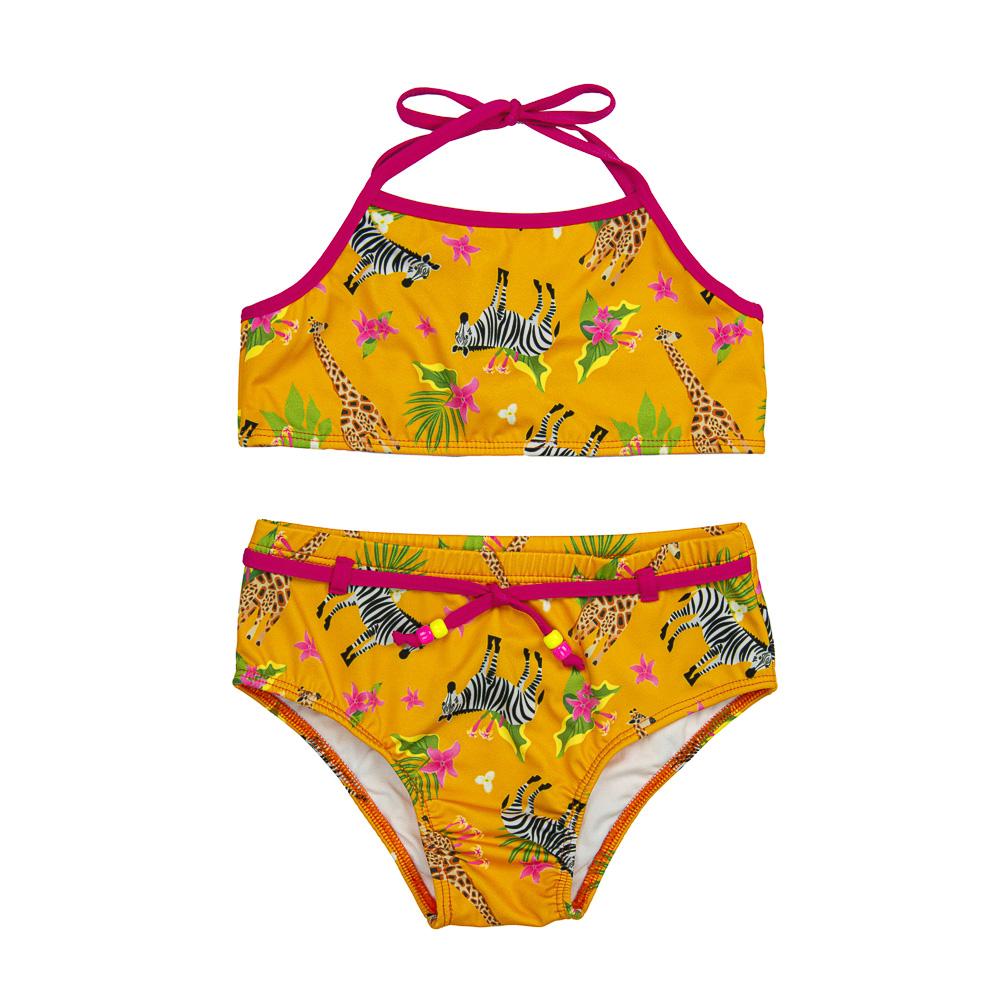 Biquíni Infantil Safari c/ Proteção UV 50+ Amarelo Everly