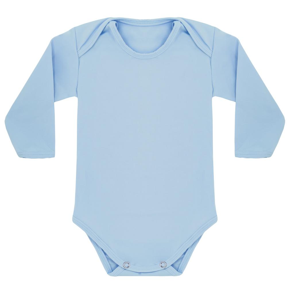 Body Térmico Liso Bebê Tecnologia Thermo Dry Azul Everly