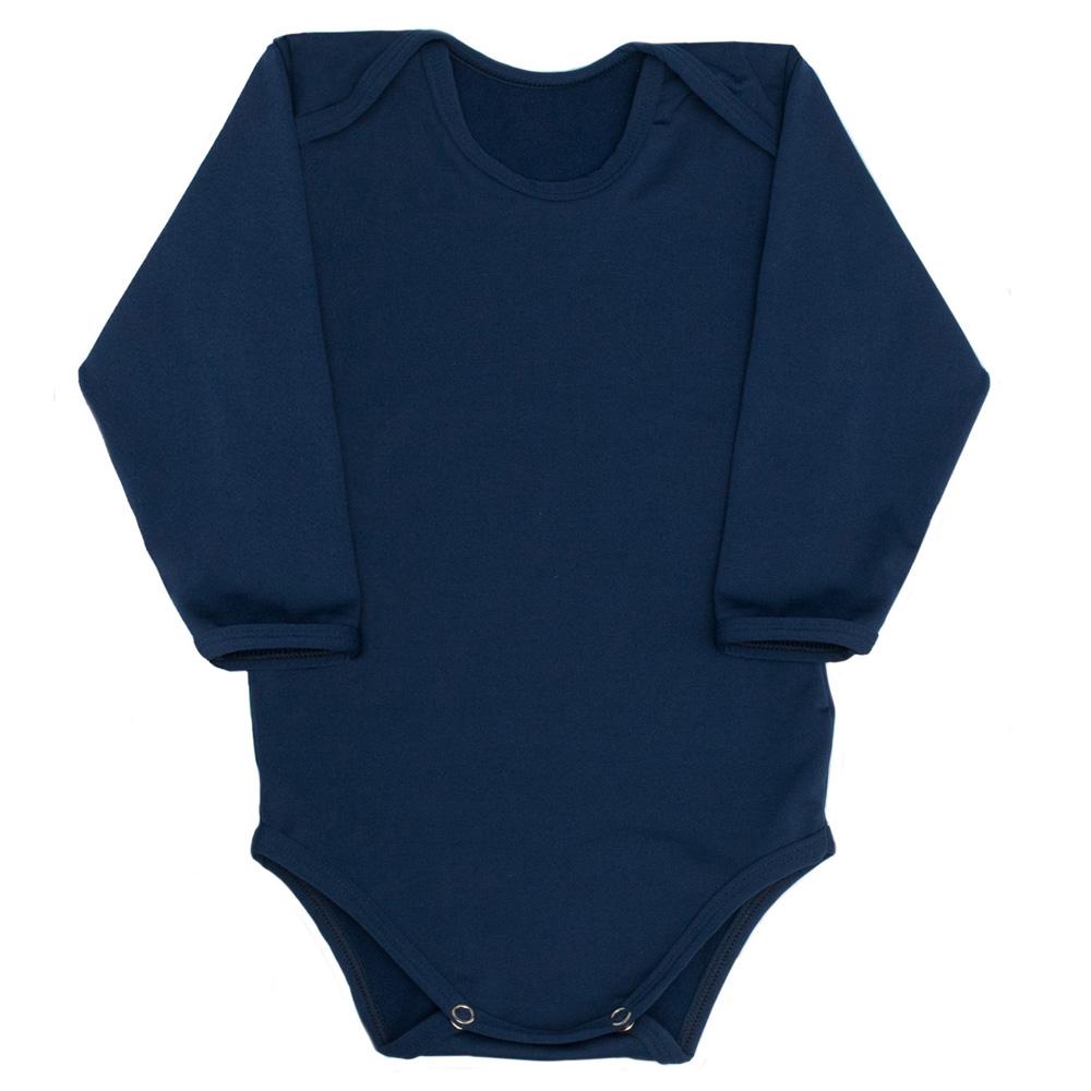 Body Térmico Liso Bebê Tecnologia Thermo Dry Marinho Everly