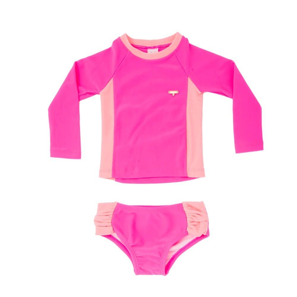 Conjunto Bebê Camiseta + Calcinha Neon UV 50+ Everly