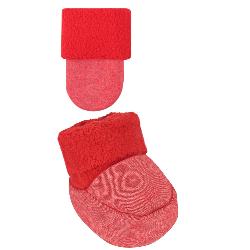 Conjunto Luva e Sapatinho Recém Nascido Liso Vermelho Everly- 2 peças