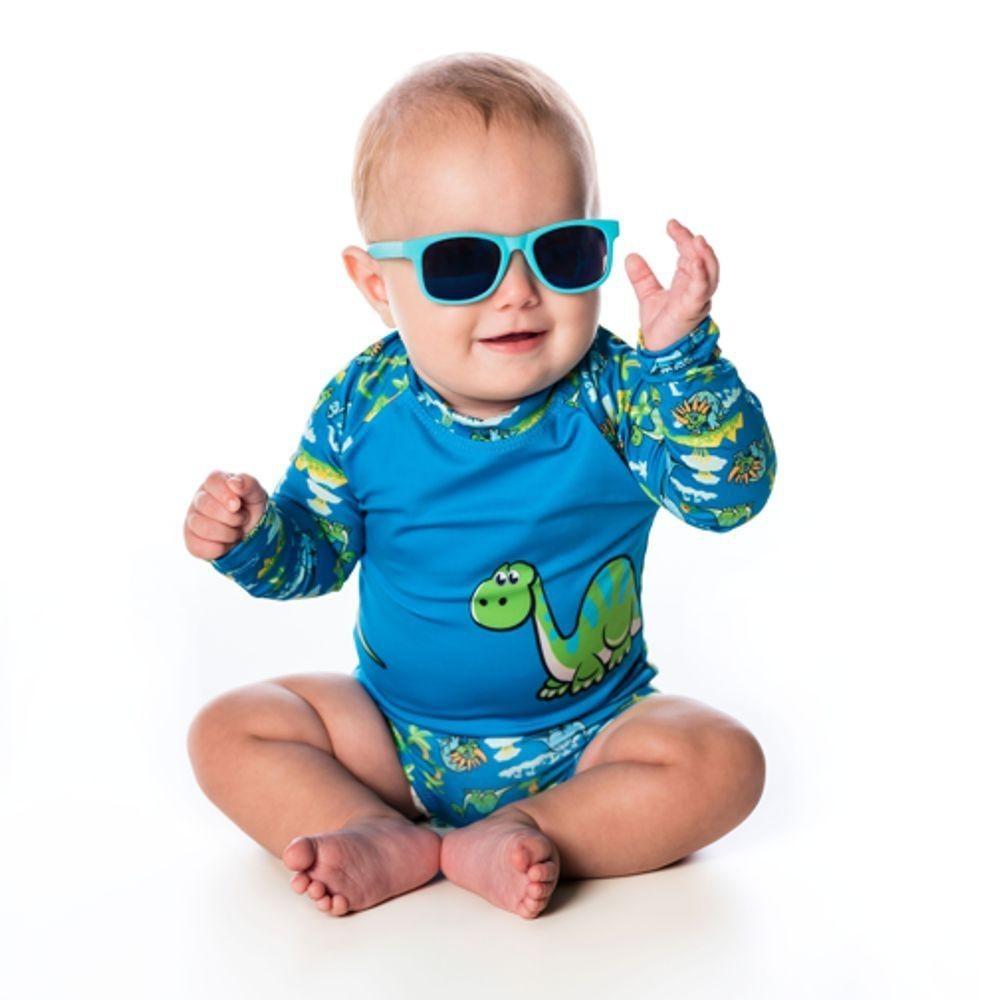 Conjunto Recém-Nascido Camiseta + Boxer UV 50+ Dino Everly