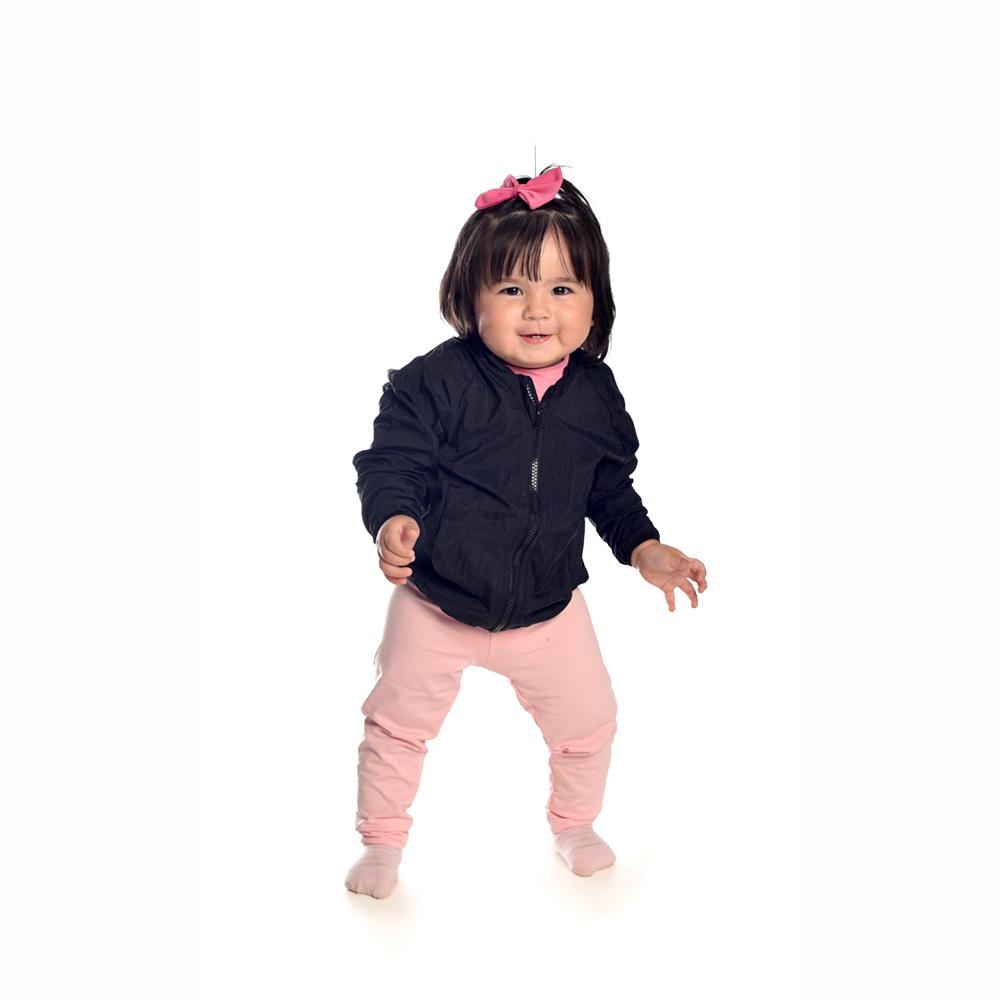 Jaqueta Corta Vento Preto Bebê Everly