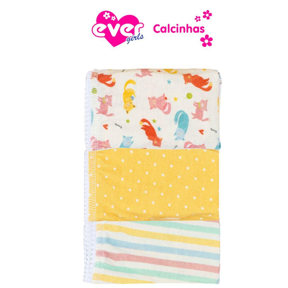 Kit Calcinha Infantil Raposa Everly- 03 unidades