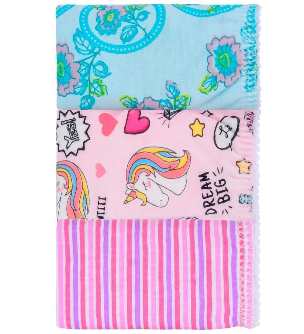 Kit Calcinha Infantil Unicórnio Everly- 03 unidades