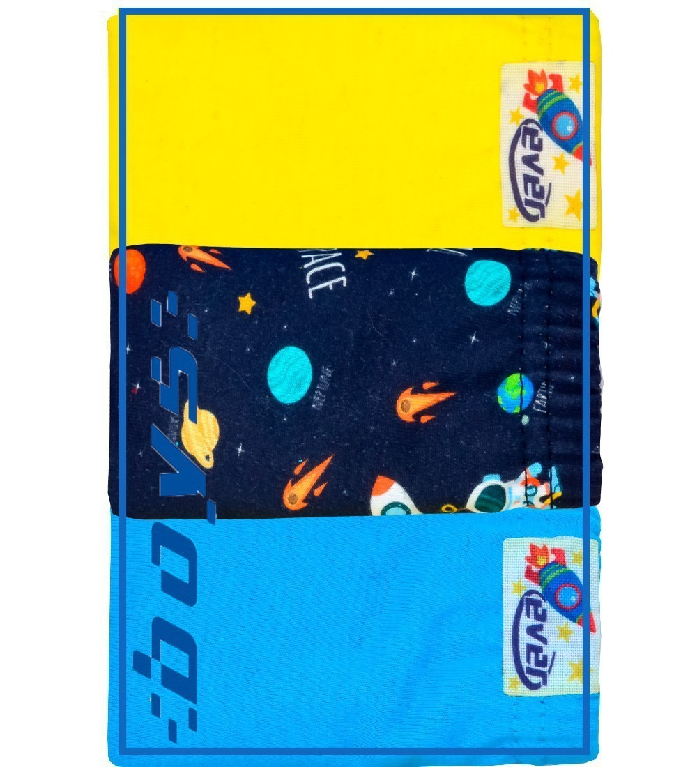 Kit Cueca Infantil Space Everly- 03 unidades
