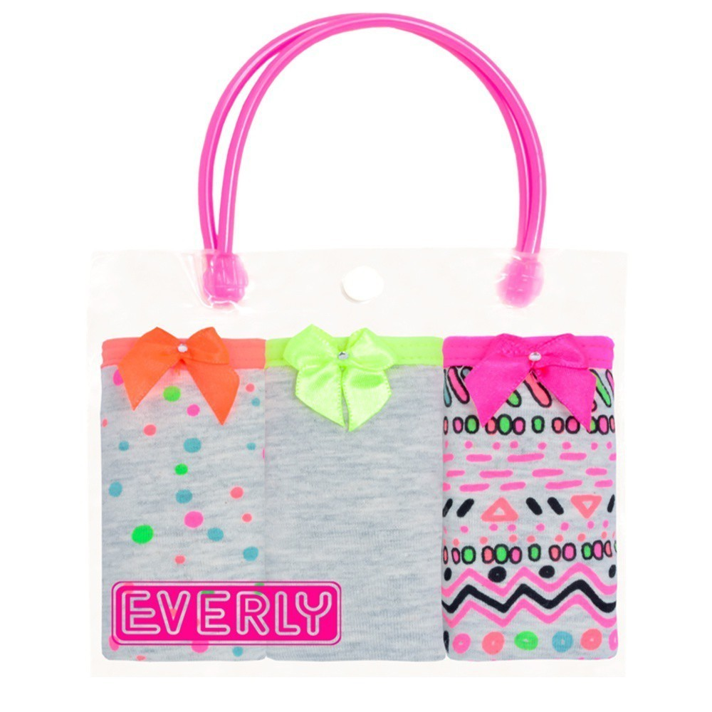 Kit Tanga Infantil Neon Everly- 03 unidades
