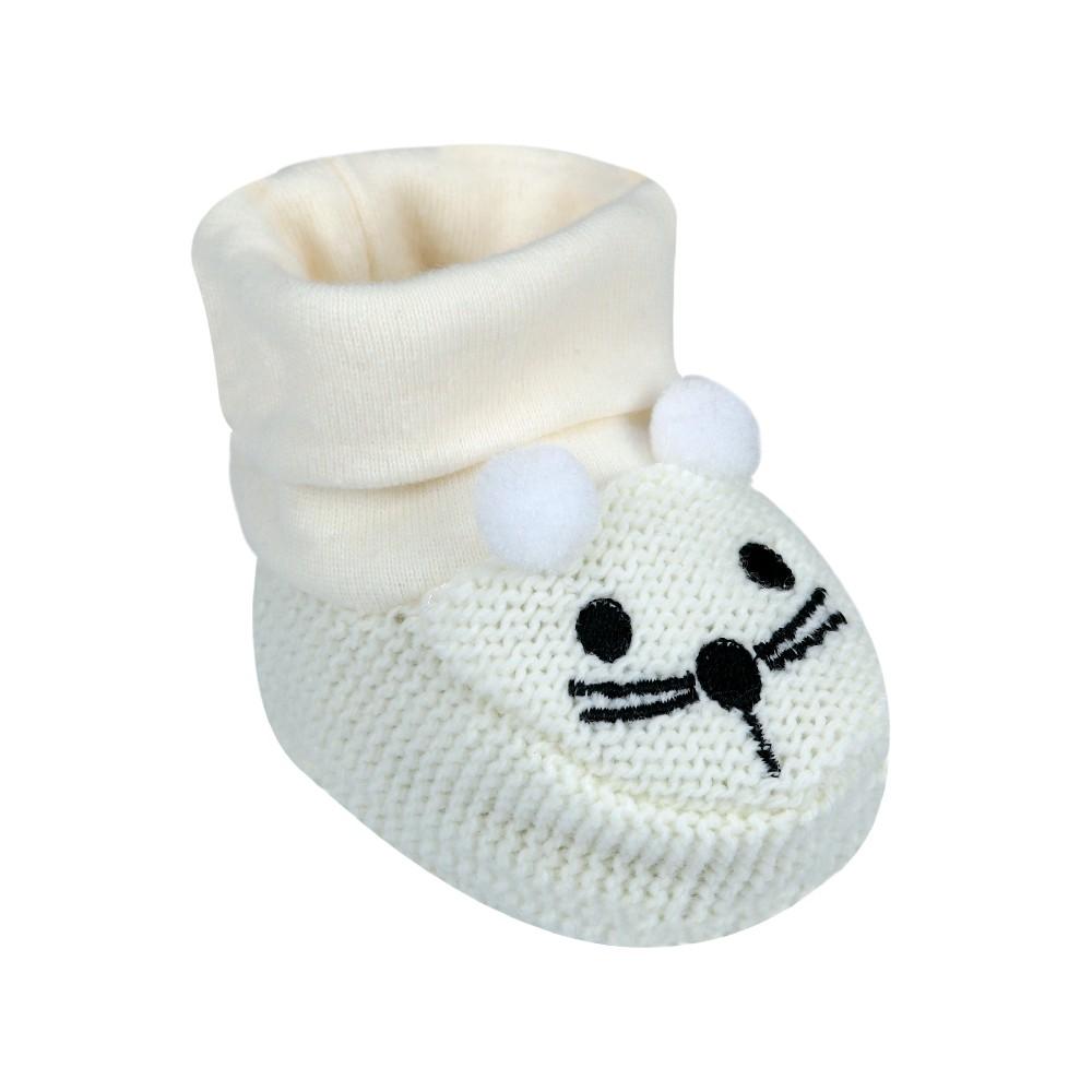 Sapatinho Bebê Ursinho Tricot