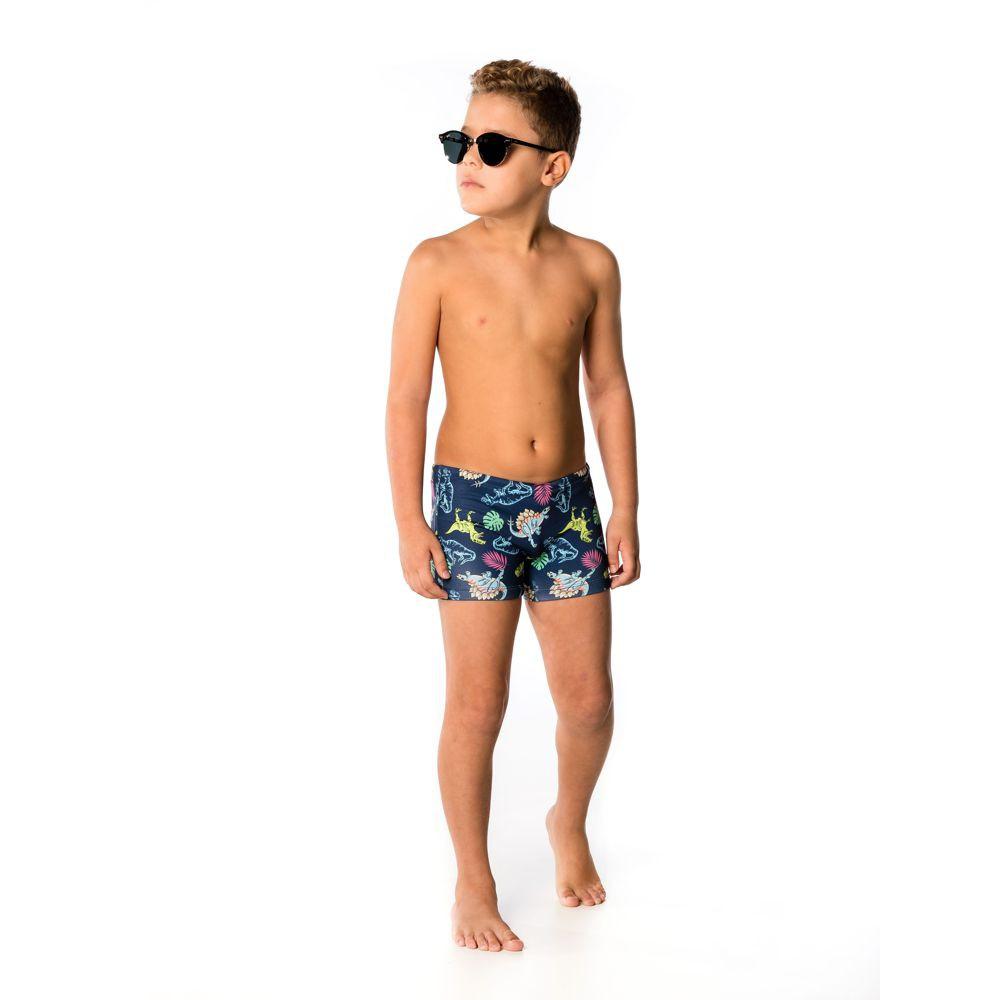 Sunga Boxer Infantil Dino UV 50+ Everly