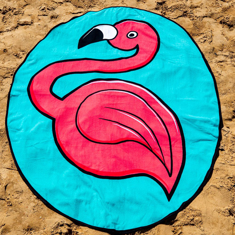 Toalha Colorida Flamingo Everly