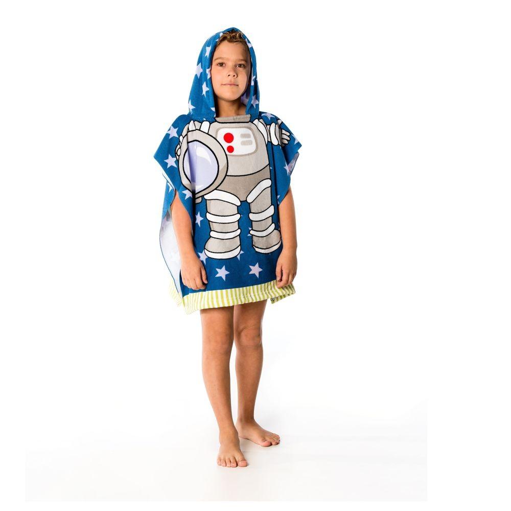 Toalha Poncho Infantil Astronauta Everly