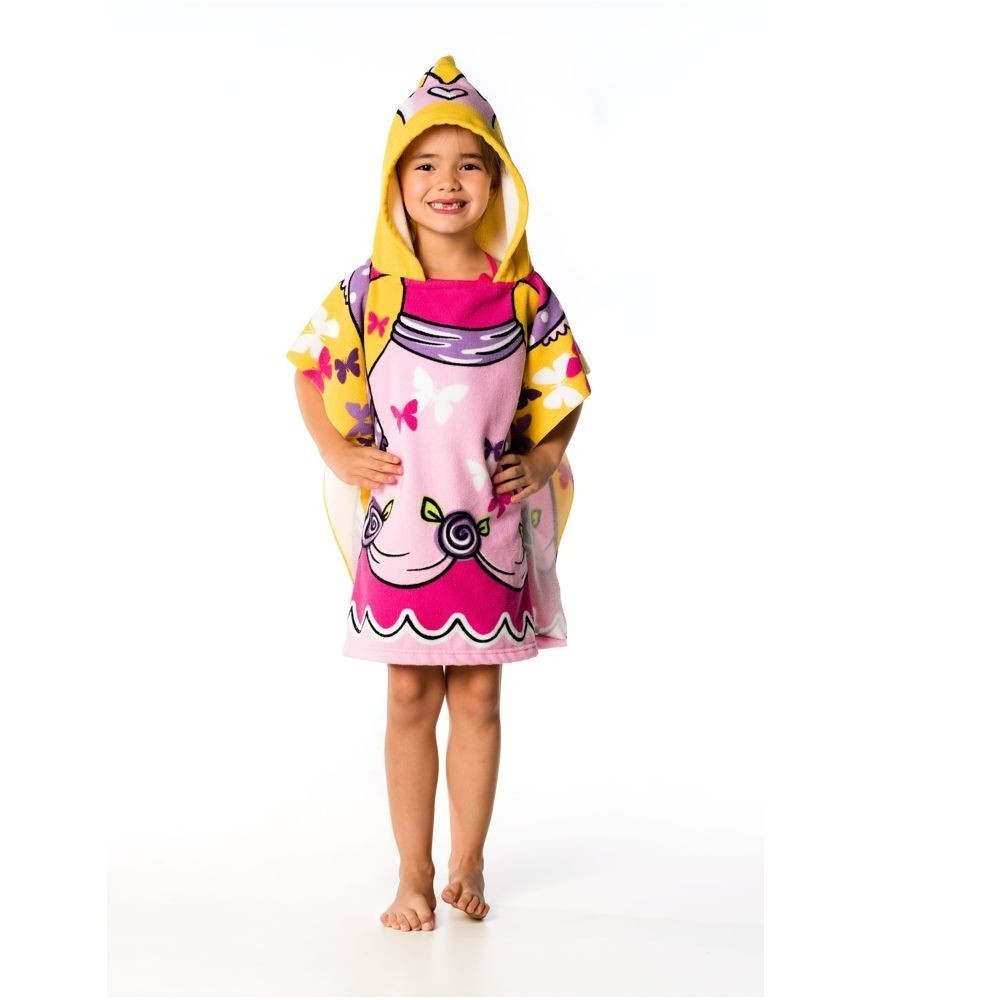 Toalha Poncho Infantil Princesa Everly