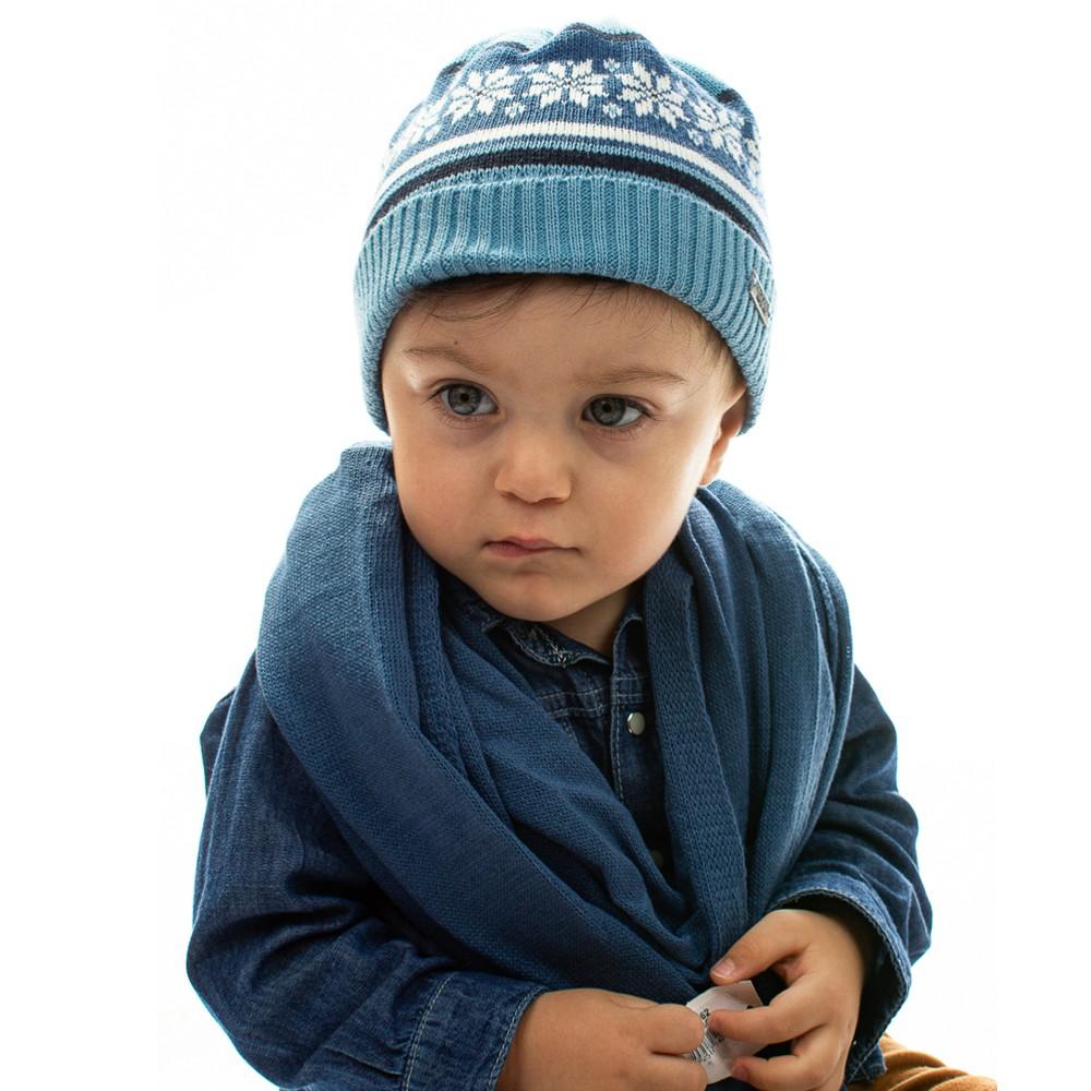 Touca Acrílica Bebê Azul Everly