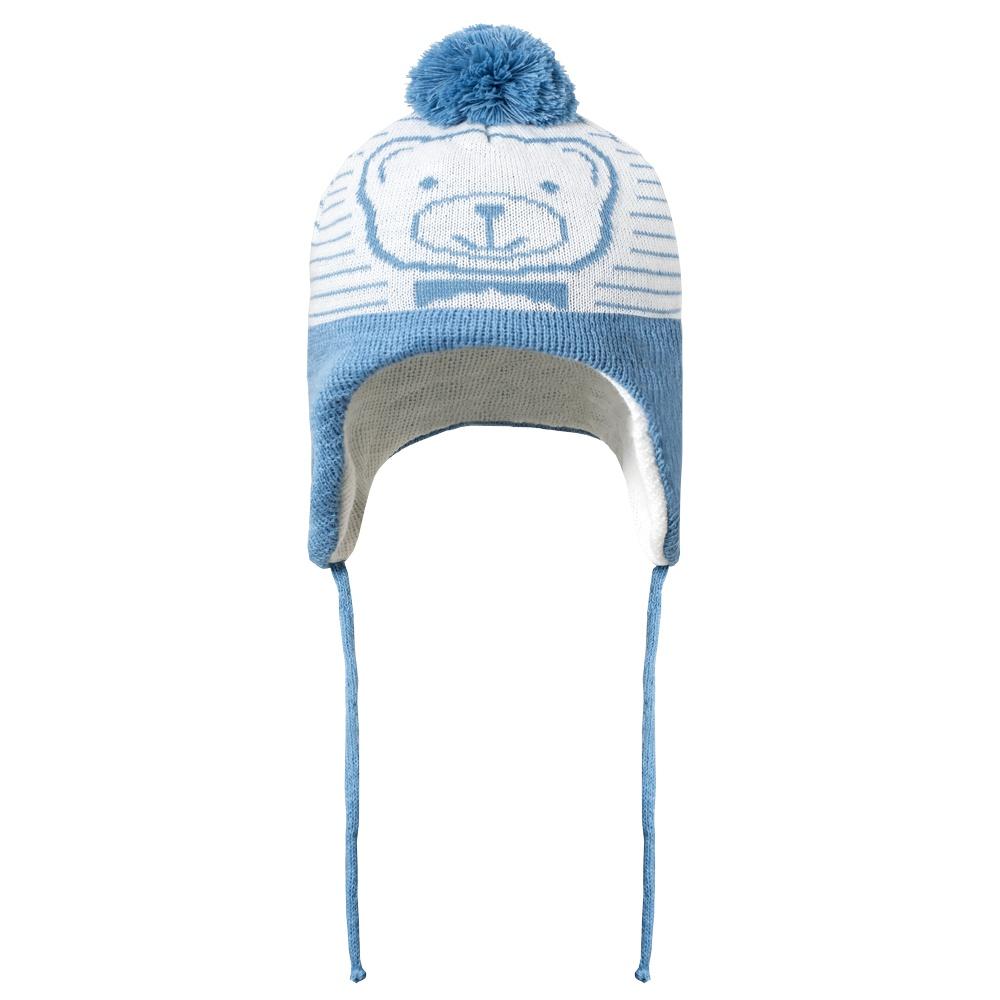 Touca Acrílica Bebê Ursinho Azul Everly