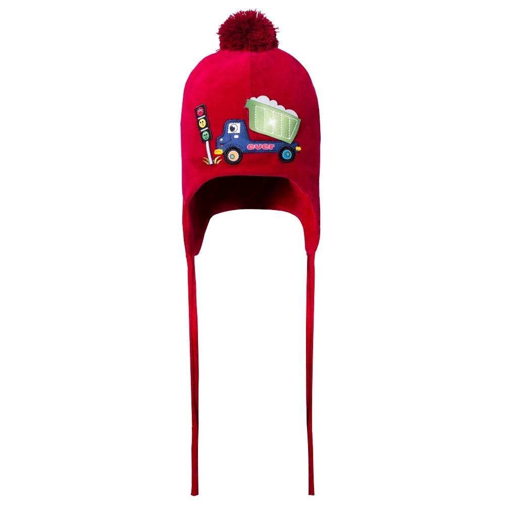 Touca Caminhão Plush Vermelho
