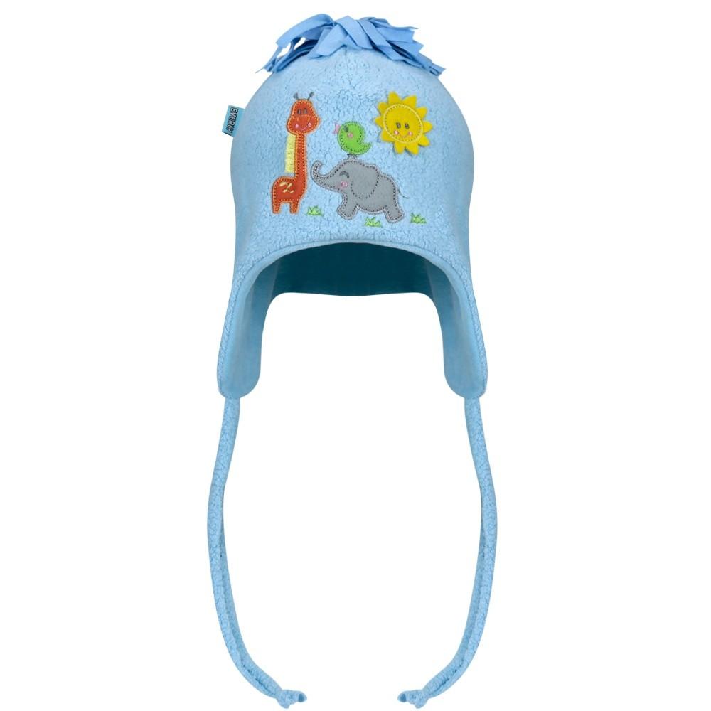 Touca Plush Animais Azul