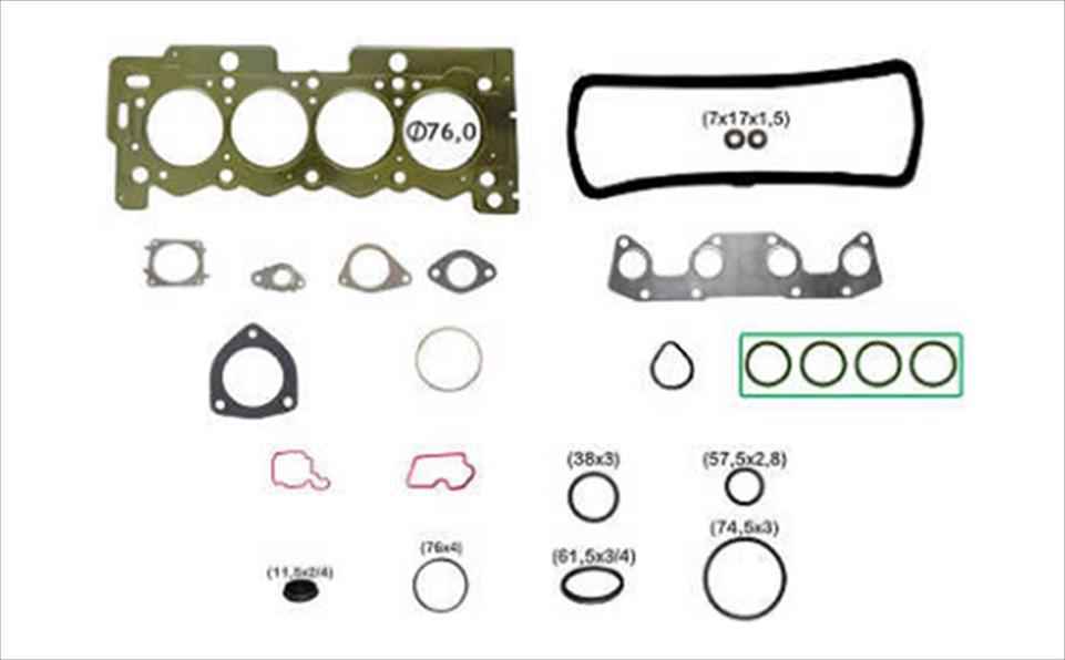 Jogo de Juntas Sup. s/ Ret. Motor 1.5 8v (TU4M) Peugeot 208/Citroen C3/C3 Picasso/Air Cross (Aço)  - Auto Peças L´equipe France