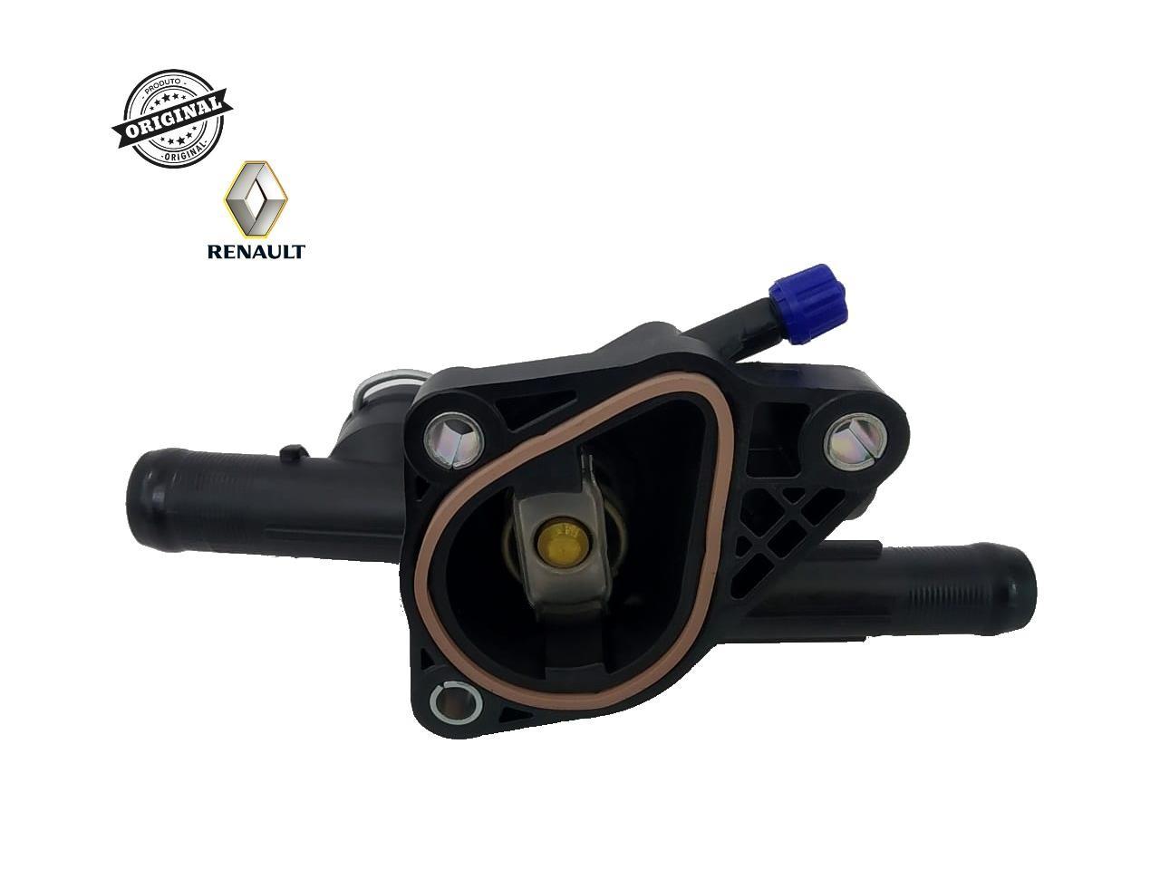 Valvula Termostatica Motor 1.0 12V B4D Renault Logan ll /Sandero ll /Kwid (c/ Respiro)  - Auto Peças L´equipe France