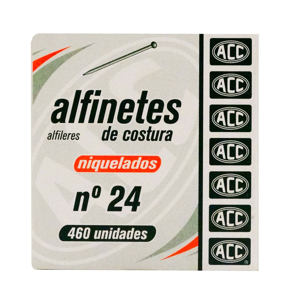 Alfinete Costura N 24 24Mm Niq Cx 50Grs