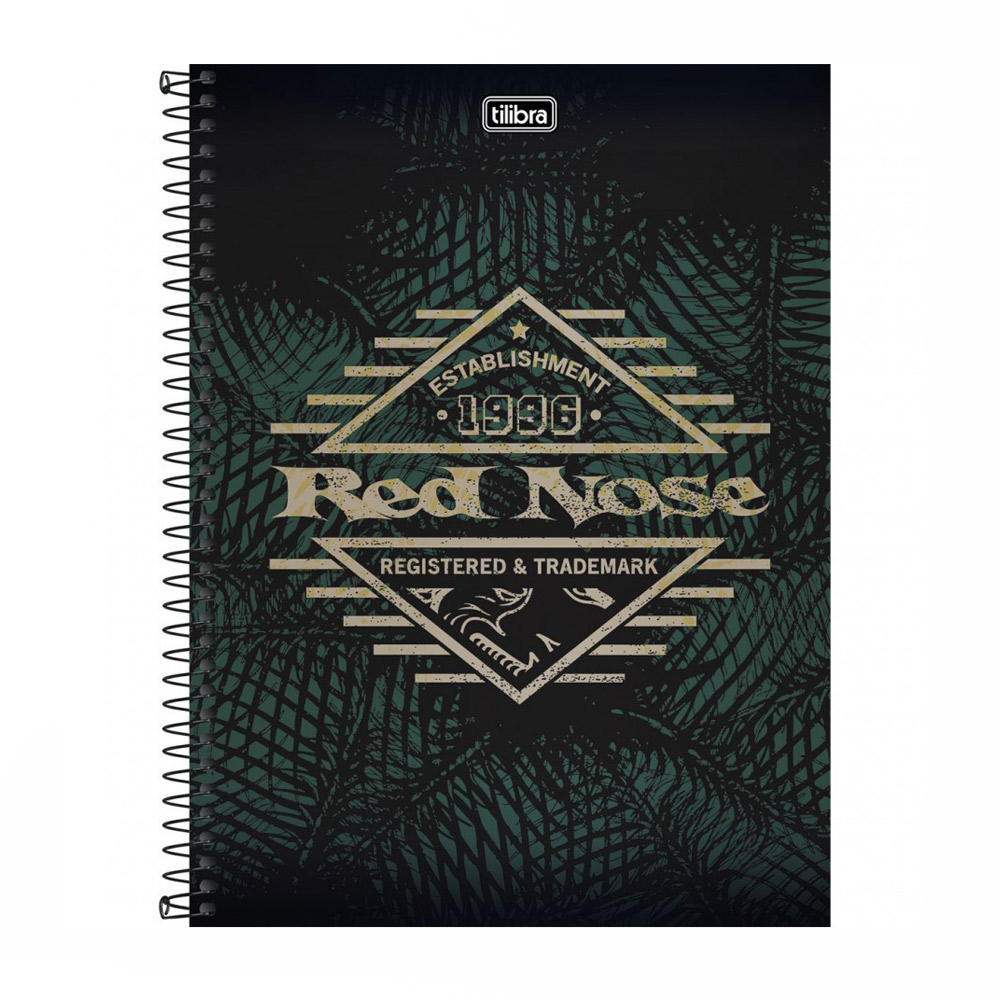 Caderno 12 X 1 Lic. 240Fls Red Nose