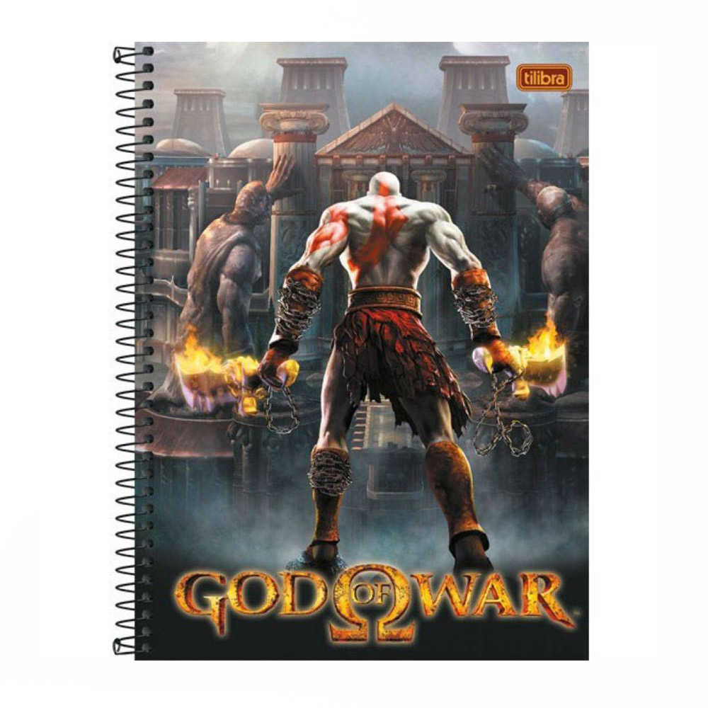 Caderno 16 X 1 Lic. 320Fls God Of War