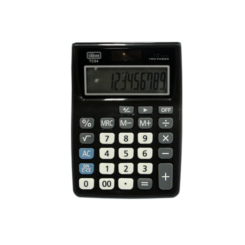 Calculadora Bolso 12 Dig.Bat.Solar Sort.