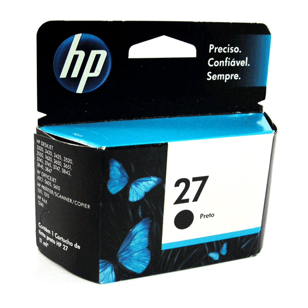 Cartucho Hp 27 C8727Ab Preto 10Ml