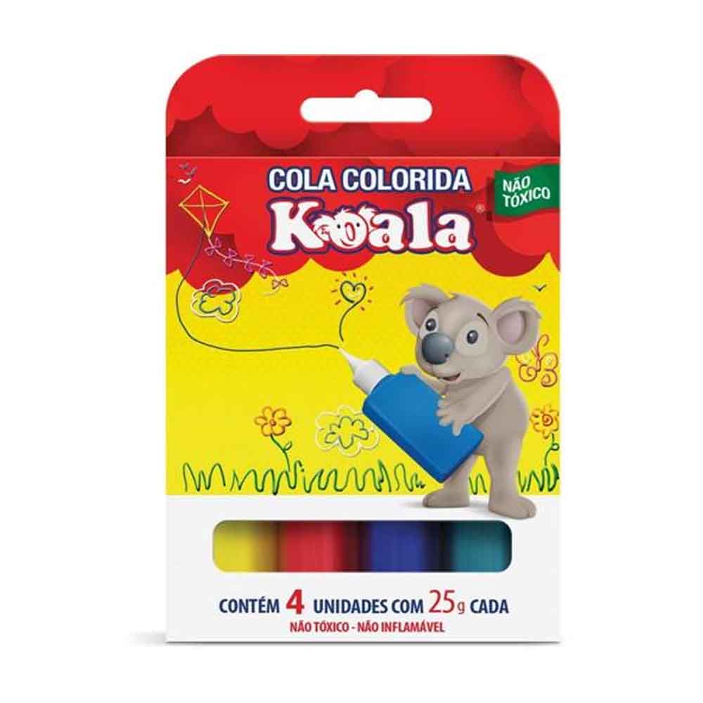Cola Colorida 04 Cores X 25Grs