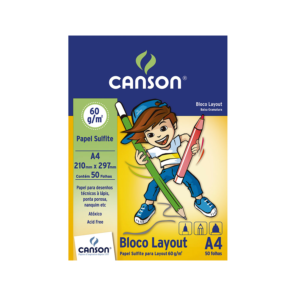 Papel Canson Layout A-4 50 Fls