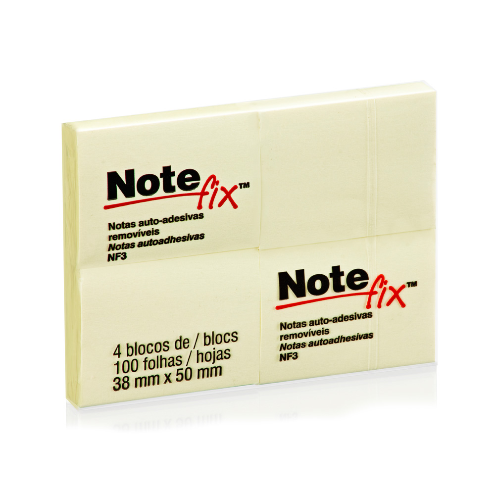 Post It 38X50 C/04X100Fls Amarel Notefix