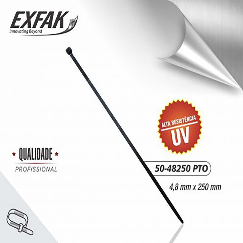 Abraçadeira exfak  4.8x250 s/uv (c/ 100) 50-48250 bco